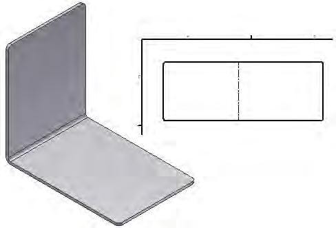 Exercise: Create a Simple Sheet Metal Part In this exercise, you create a simple sheet metal part and produce a flat pattern view in a drawing.