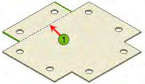 4. For each cut, hole, punch, or other feature, create a new sketch on the face of the part.