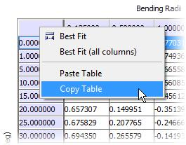 Copy Bend Table You can copy your bend table from Inventor and paste it into a spreadsheet or text file.
