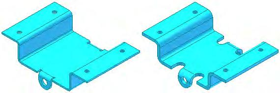 Example of Sheet Metal Defaults When designing a sheet metal part, you specify what the material is, its thickness, and the other attributes that are used for calculating the flat pattern of the part.