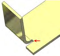 Term Definition Illustration Bend radius Inside radius of the bend.