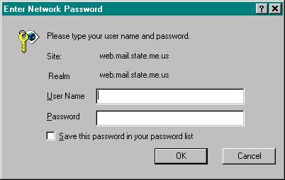 In the ENTER NETWORK PASSWORD dialog box, type your USER NAME in the format: Domain Name/first.