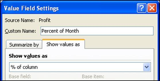 Structure the PivotTable as shown below by dragging Rating into the Column Labels box, Year into the Row Labels box, and Profit into the Values box. 2.