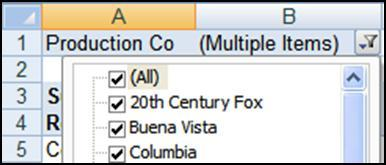 Click anywhere within the PivotTable. 2. Click the Options tab. 3. Click the Clear button and then Clear All.