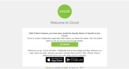 First steps Registration Circuit User Guide I Content I Getting Started I Basic Setup I Working with Circuit Free Circuit version Register via Circuit website or download the Circuit app and sign up: