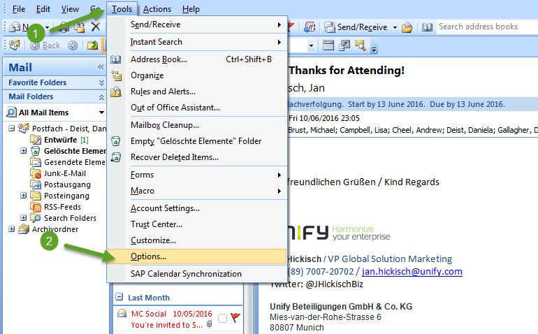 Tool extensions Circuit for Outlook part 2b (Outlook =2007) Open up