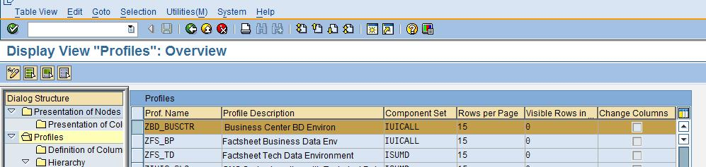 ISU Tree Profiles The tree profile is a widely used feature in CRM IS-Utilities implementations. It gives the flexibility of re-using the component in various other components.