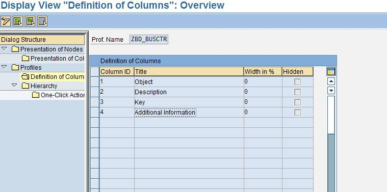 An entry >0 defines the number 6) Change Columns: This is a flag to set the cell contents of the tree as editable.