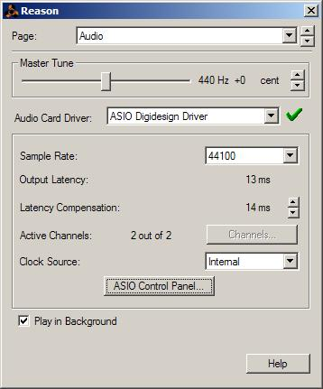 Changing ASIO Driver Settings Changing ASIO Driver settings is done in your third party ASIO program. Refer to the documentation that came with your software program.