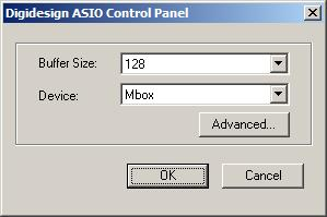 The Digidesign ASIO Driver Control Panel cannot be accessed under the following circumstances: When Pro Tools is running.