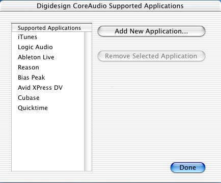 Some applications, such as Apple s itunes or QuickTime Player, also require that you configure either the Apple Sound Preferences or Apple Audio MIDI Setup to use the Digidesign CoreAudio Driver.