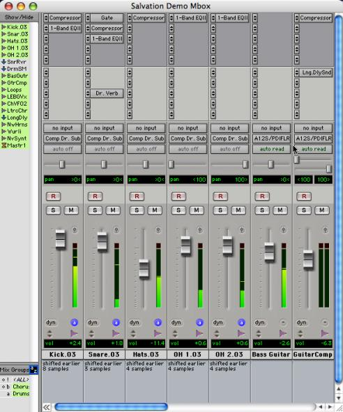 Main Windows The Mix, Edit, and Transport windows are the main Pro Tools work areas. You can show any of these windows by choosing them from the Windows menu.