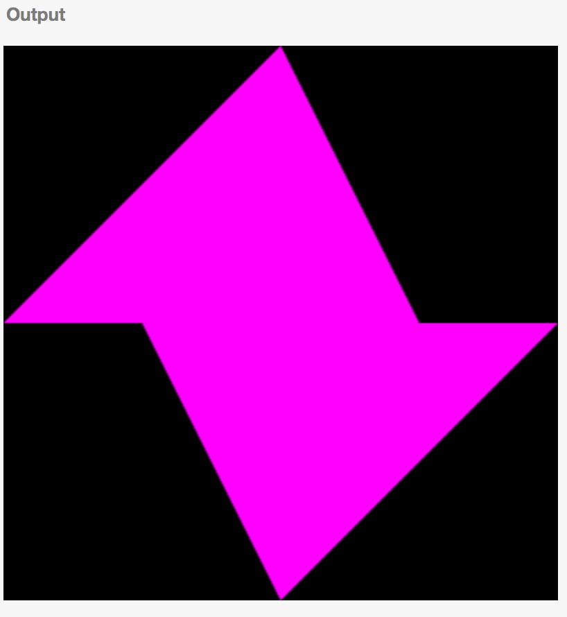 Two purple triangles
