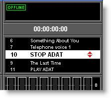 It is possible to set the list up so that incoming MIDI IN or GPI events can automatically trigger the recall of Cues, including by MIDI Timecode, and it is possible to set up to 20 MIDI OUT events