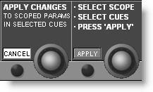 The changes made to the Cues will be absolute, ie the original setting of that parameter will be replaced by the new setting.