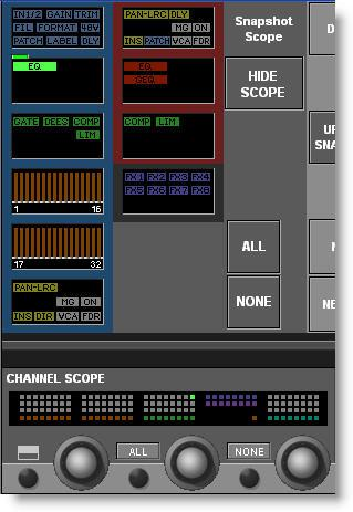 Press the START button in the Appy Changes field that is located on the bottom row of Vistonics controls below the Cue List.