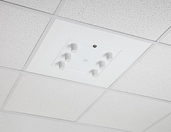 Model 1052 00 The Model 1052 00 wireless LAN access point enclosure is a locking 2 x 2 ceiling tile enclosure designed specifically for Motorola access points.