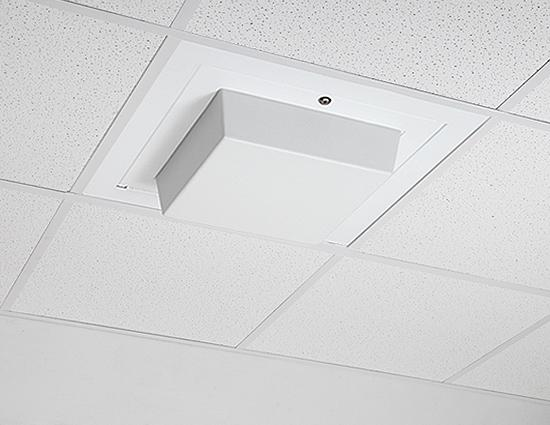 Model 1059 00 The Model 1059 00 wireless LAN access point enclosure is a locking, 2 x 2 ceiling tile enclosure designed to accommodate access points with non detachable antennas from most