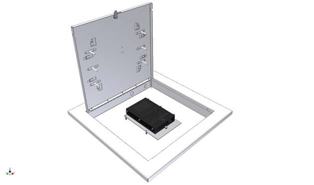 Model 1059 MIMO The Model 1059-MIMO wireless LAN access point enclosure is a locking 2 x 2 ceiling tile enclosure designed specifically for the Motorola 650 external dual radio 802.11n access point.