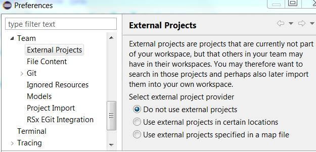 dependent projects, these can be resolved on the second wizard page This way of importing projects is more convenient than importing by