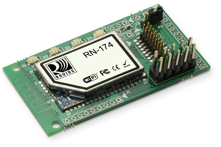 RN- WiFly Super Module Features Evaluation board for the RN- module Supports chip antenna (RN--C), PCB trace antenna (RN--P), wire antenna (RN--W), and U.