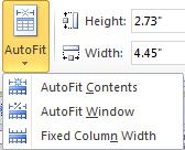 Know your AutoFit options The AutoFit option currently associated with your table may affect your table width when adding a column.