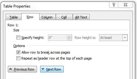 By default, tables are aligned against the left margin of the page. Tables can also be centered, or right-aligned on the page.