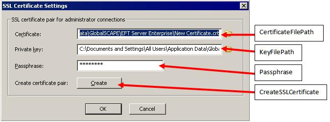 Server SSL Certificate Methods and Properties Interface Reference: ICISimpleCondition - Simple Condition Interface The ICIServer interface allows you to manage the Server's SSL Certificate for remote