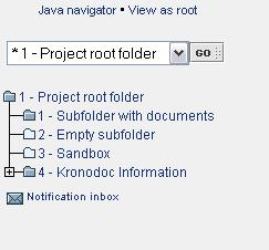 "Click the ""GO"" button, if the root folder is not changed automatically. Viewing as a root Click the ""View as root"" link to temporarily view the selected folder as a root folder."