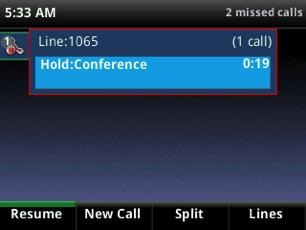 You also have the option to split a conference call by ending the conference and placing the people you were talking with on hold.