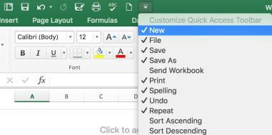 Tip: To modify the original template file, choose Open from the File Tab and open the template file in the Templates folder. Close and Save the Template file after making changes.