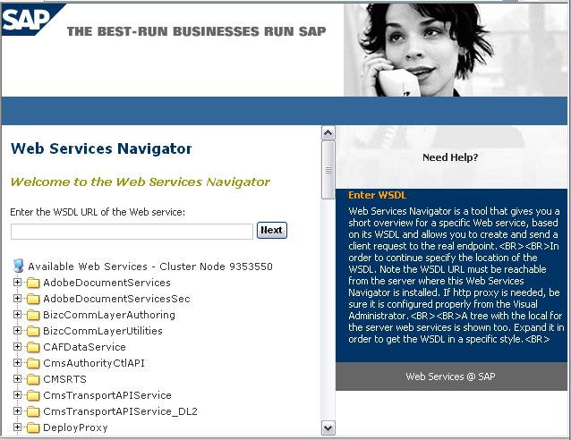 In order to execute the web service through web service navigator click on