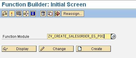 Creating Function module Transaction SE37 Enter the Function Module name to be