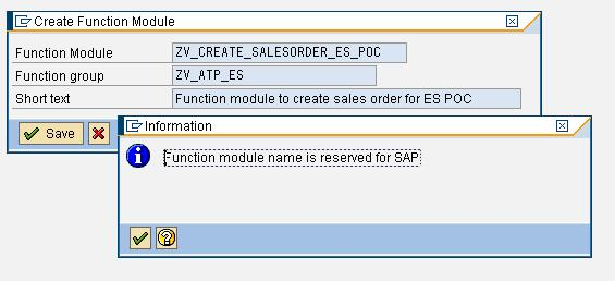function module in the pop up window as per below screen and click on SAVE, then you