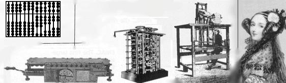 calculator Leibniz wheel Jacquard loom Difference Engine Analytical Engine