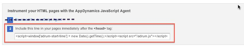 3. Add a line in the script, shown in the red box above, indicating your app key. The script must be in the header of the page directly after the <head> tag.