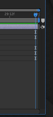 To set the last keyframe, click in the composition timeline and then press the END key on the keyboard.