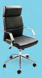 "Guest Chair (black vinyl) 24""L 22""D"