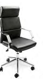"Chair (black vinyl) 27""L 28""D 47""H"