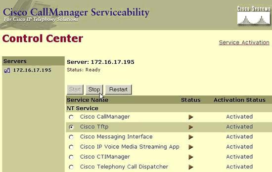 it. While Cisco TFTP is selected, click Start to start the Cisco