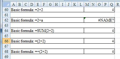 Primer on Excel for Accounting, Page 30 Excel will also mix constants with cell references within the formula. For example, in cell M48 of Basic Formulas worksheet of the Excel_Primer_Ch04_Data.