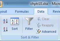 Primer on Excel for Accounting, Page 73 Sort Excel will also allow multiple layer sorts. In a Sort function no data is hidden and the order of presentation has several options.