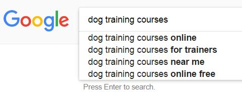 That s important feedback from Google. If you offer a local dog training course, then you should adjust your keyword to dog training courses + your city.