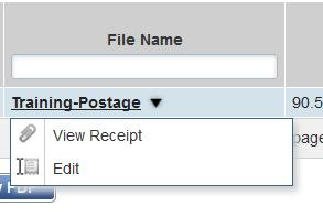 Once completed, select Close Your column Uploaded Receipts will now read Yes 8 Once you have uploaded receipts or printed your