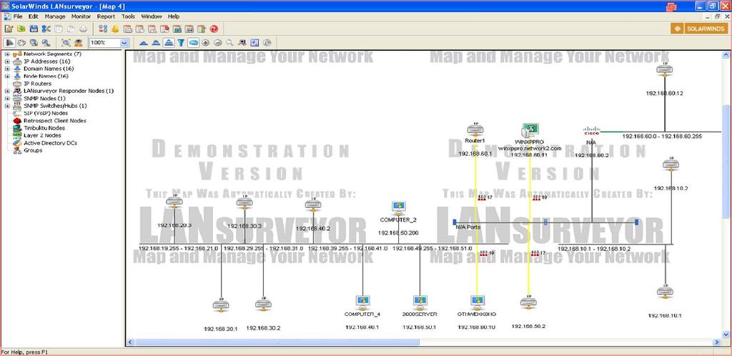 mapping capability to accomplish their primary function of network monitoring and management.