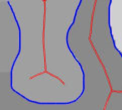 good contour continuity, e.g., as defined via Elastica [2] or the Euler Spiral [8]; (ii) the completion of the gap between C 1 and C 2 requires that the region fragments B,C,D,E and F be merged on