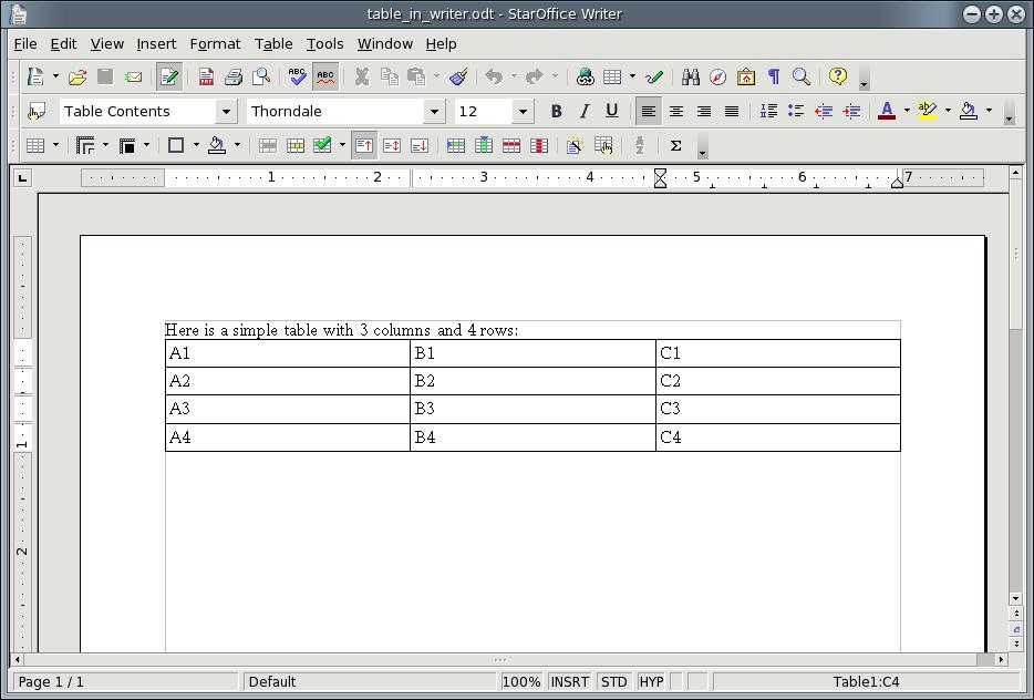 Picture 2 shows a simple ODF text document and the contents of the corresponding ZIP package.