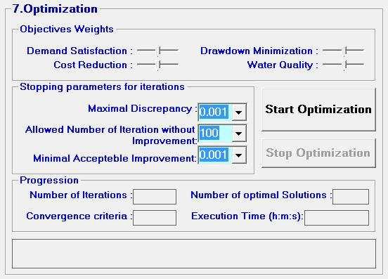 4.3.3. STEP 7: Start the optimization To allow flexibility for managers and decision makers, it is allowed in step 7 to choose a weight for each of the four optimization objectives by using four