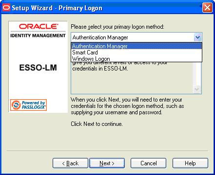 First Time Use Scenarios 4. Enroll in your selected primary logon method. For example, if a smart card authenticator is installed, you will see the dialog below.