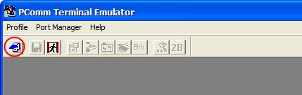 We suggest using PComm Terminal Emulator, which is available free of charge as part of the PComm Lite program suite, to carry out the installation procedure, although other similar utilities may also